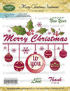 JustRite Cling Stamps - Merry Christmas Sentiment (CL-02054)