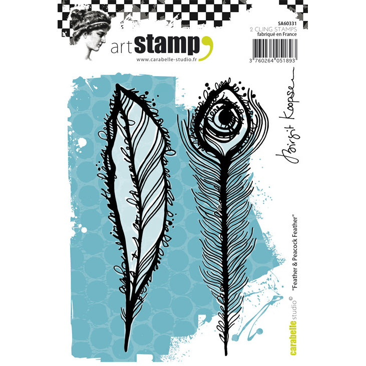 Carabelle Studio Stamps - Feather & Peacock Feather