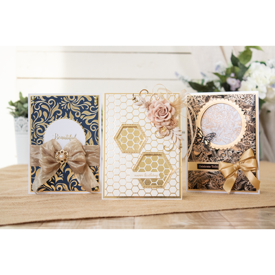 Gemini Foil Stamp Die - Elements - Softly Swirling Background