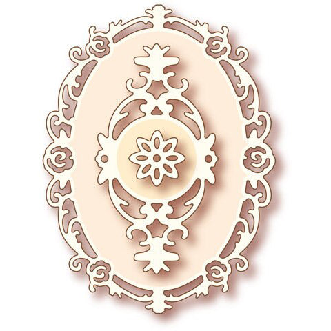 Wild Rose Studio Dies - Oval Frame - SD005