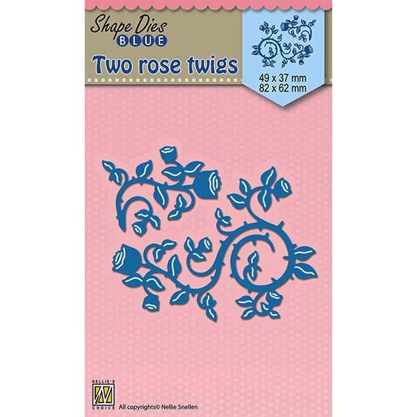 Nellie Snellen Shape Blue Dies - Two Rose Twigs