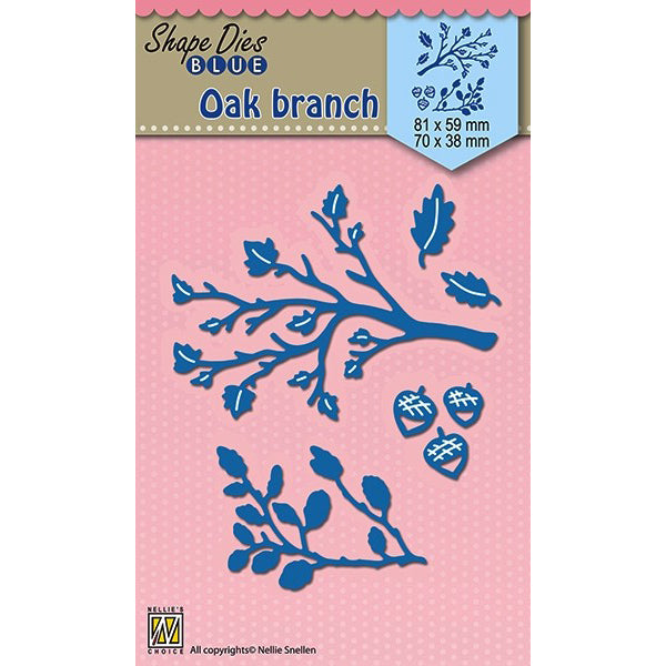 Nellie Snellen Shape Blue Dies - Oak Branches
