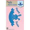 Nellie Snellen Shape Blue Dies - Happy Easter