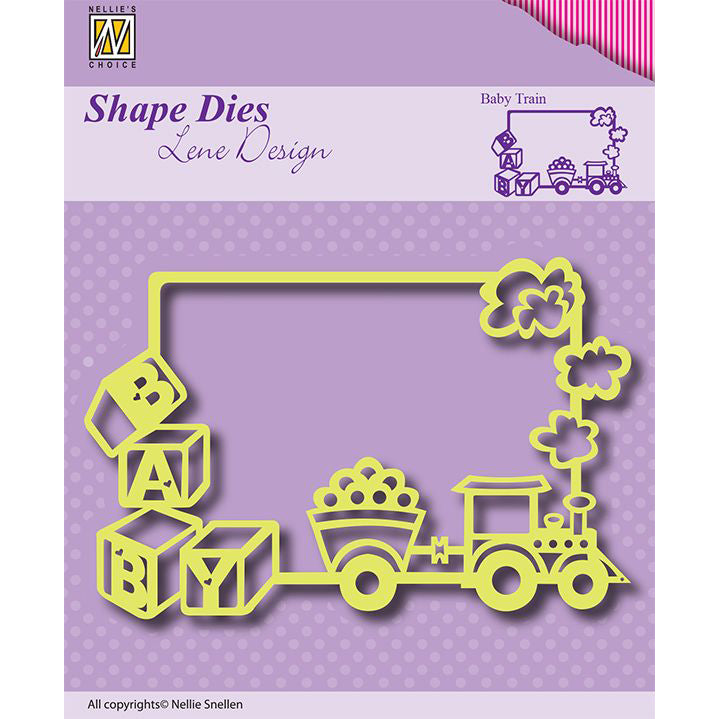 Nellie Snellen Shape Dies - Baby Train - SDL011