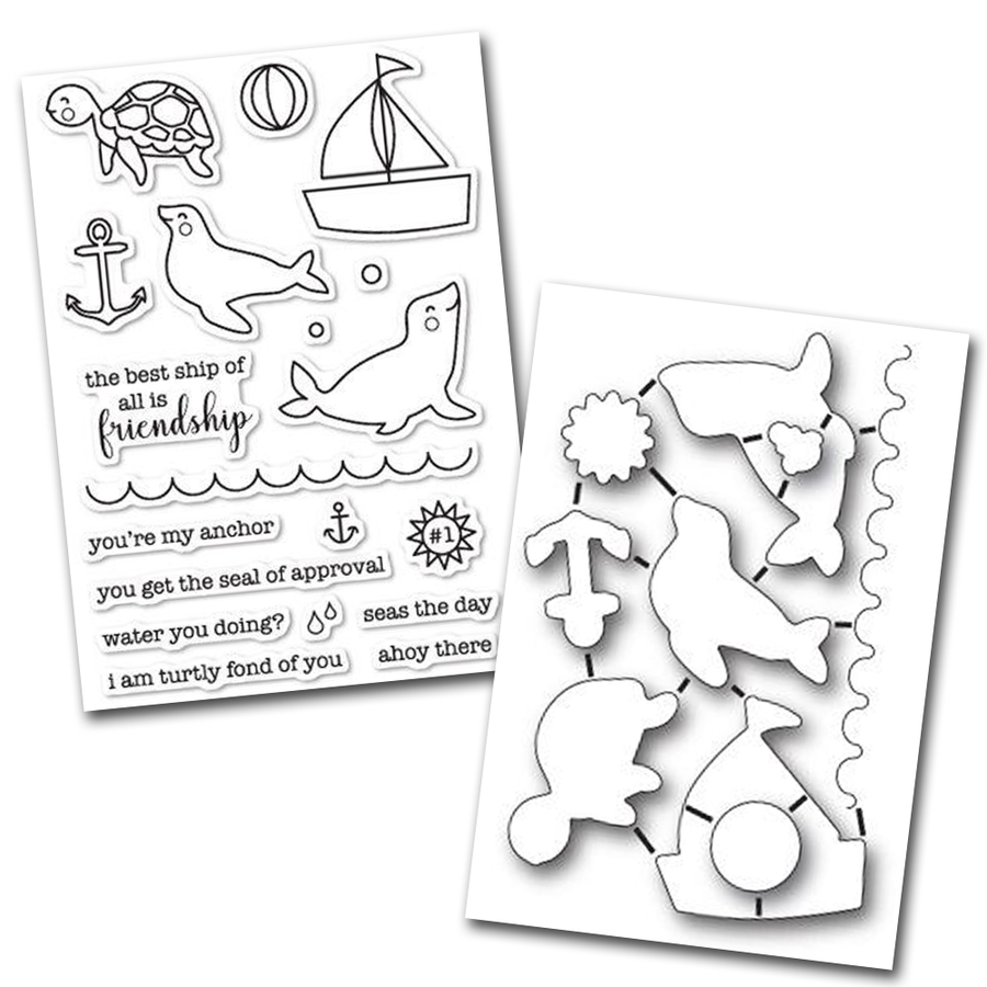 Memory Box Stamp & Die Set - Seal Of Approval - 32198/CL5198