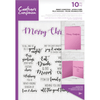 Crafters Companion - Sentiment & Verses Clear Stamps - Merry Christmas