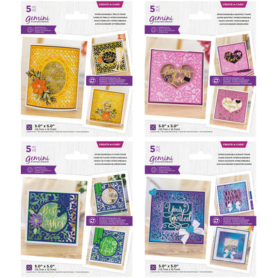 Gemini by Crafters Companion Interchangeable Frame Bundle Of 4