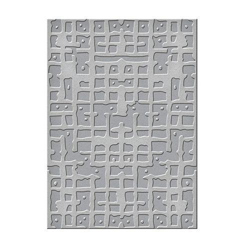 Seth Apter Embossing Folders Gridiron 5 x 7 in Single Sided