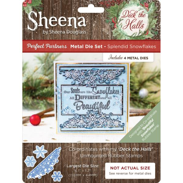Sheena Douglass - Deck the Halls - Metal Die - Splendid Snowflakes