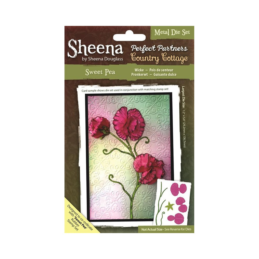 New SWEET WILLIAM Flower SHEENA DOUGLASS Cutting Die Set