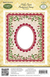 JustRite Stamps Holly Frame Background CL-04715