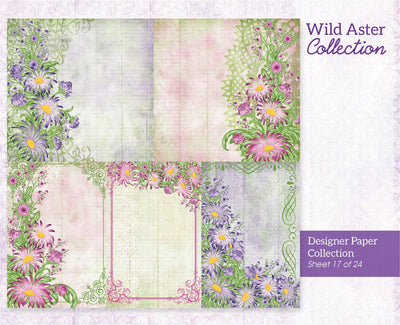 Heartfelt Creations - Wild Aster Paper Collection - HCDP1-2106
