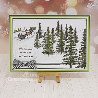 Heartfelt Creations Stamp: Snow Kissed Spruce (HCPC-3749)