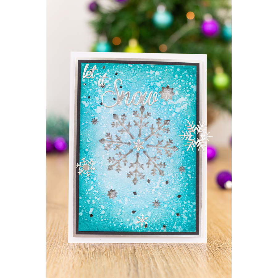 Gemini by Crafters Companion - Cut and Emboss Folder - Snowflake Swirls