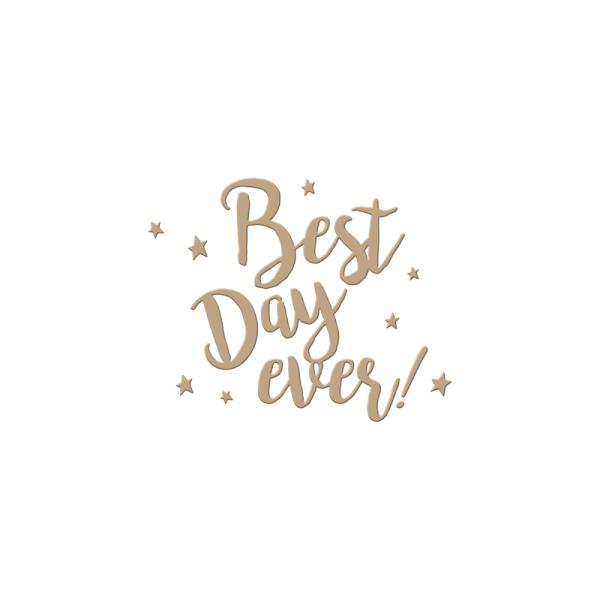 Spellbinders Glimmer Hot Foil Plate - Best Day Ever (GLP-007)
