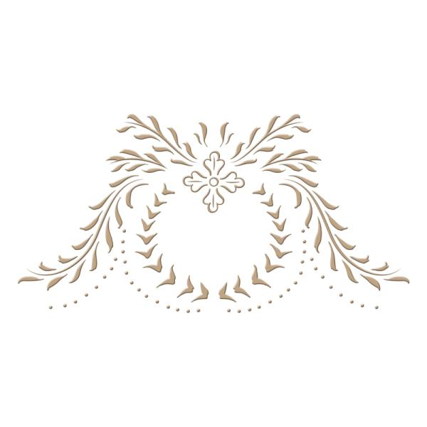 Spellbinders Glimmer Hot Foil Plate - Cartouche by Paul Antonio (GLP-022)