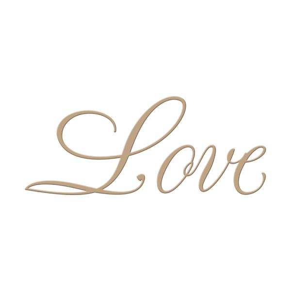 Spellbinders Glimmer Hot Foil Plate - Copperplate Script Love by Paul Antonio (GLP-013)