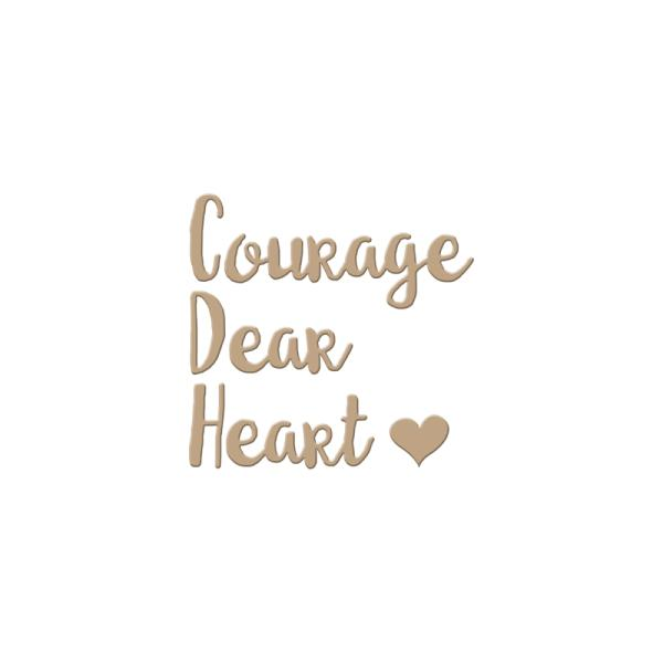 Spellbinders Glimmer Hot Foil Plate - Courage Dear Heart (GLP-002)