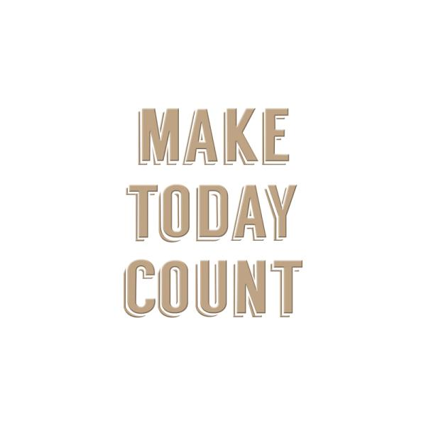 Spellbinders Glimmer Hot Foil Plate - Make Today Count (GLP-010)