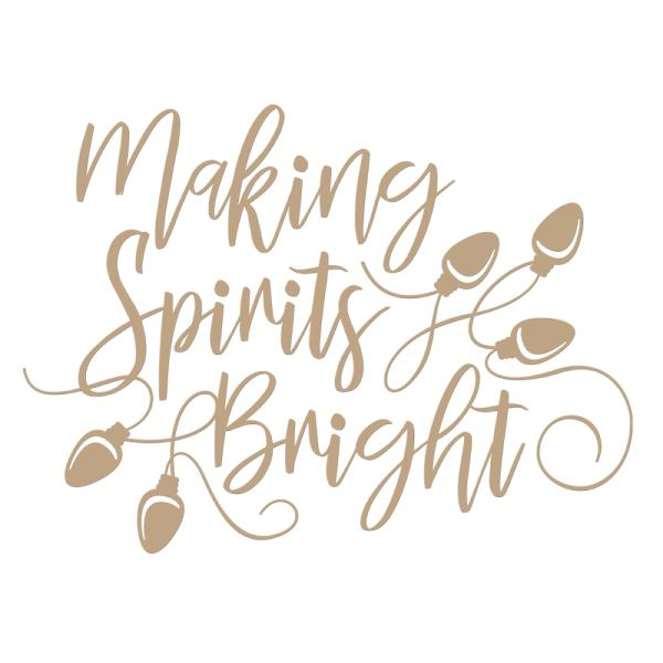 Spellbinders Glimmer Hot Foil Plate - Making Spirits Bright Holiday (GLP-050)