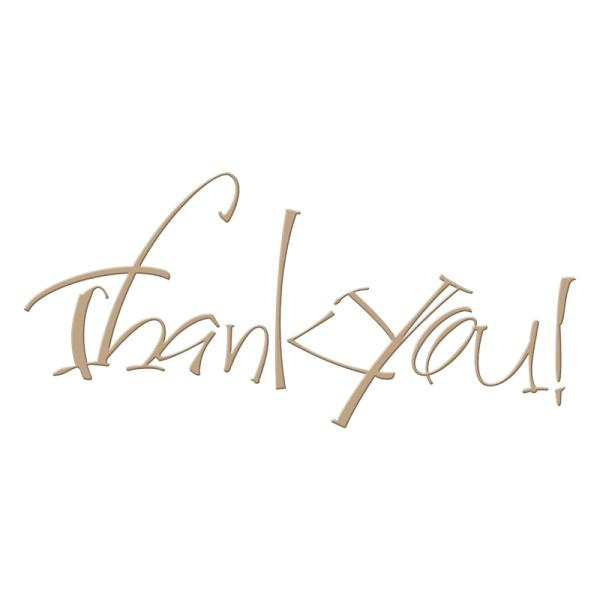 Spellbinders Glimmer Hot Foil Plate - Thank You by Paul Antonio (GLP-024)