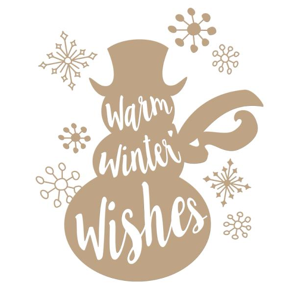 Spellbinders Glimmer Hot Foil Plate - Warm Winter Wishes Holiday (GLP-045)