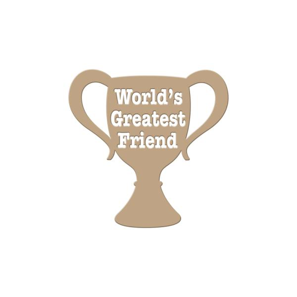 Spellbinders Glimmer Hot Foil Plate - Worlds Greatest Friend (GLP-004)
