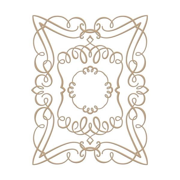 Spellbinders Glorious Glimmer Hot Foil Classic Plate - Elegant Rectangle by Becca Feeken (GLP-029)