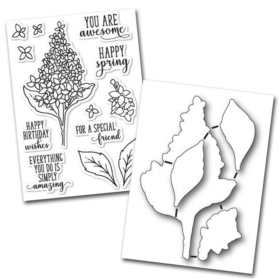 Memory Box Stamp & Die Set - Spring Lilacs - 32199/CL5199