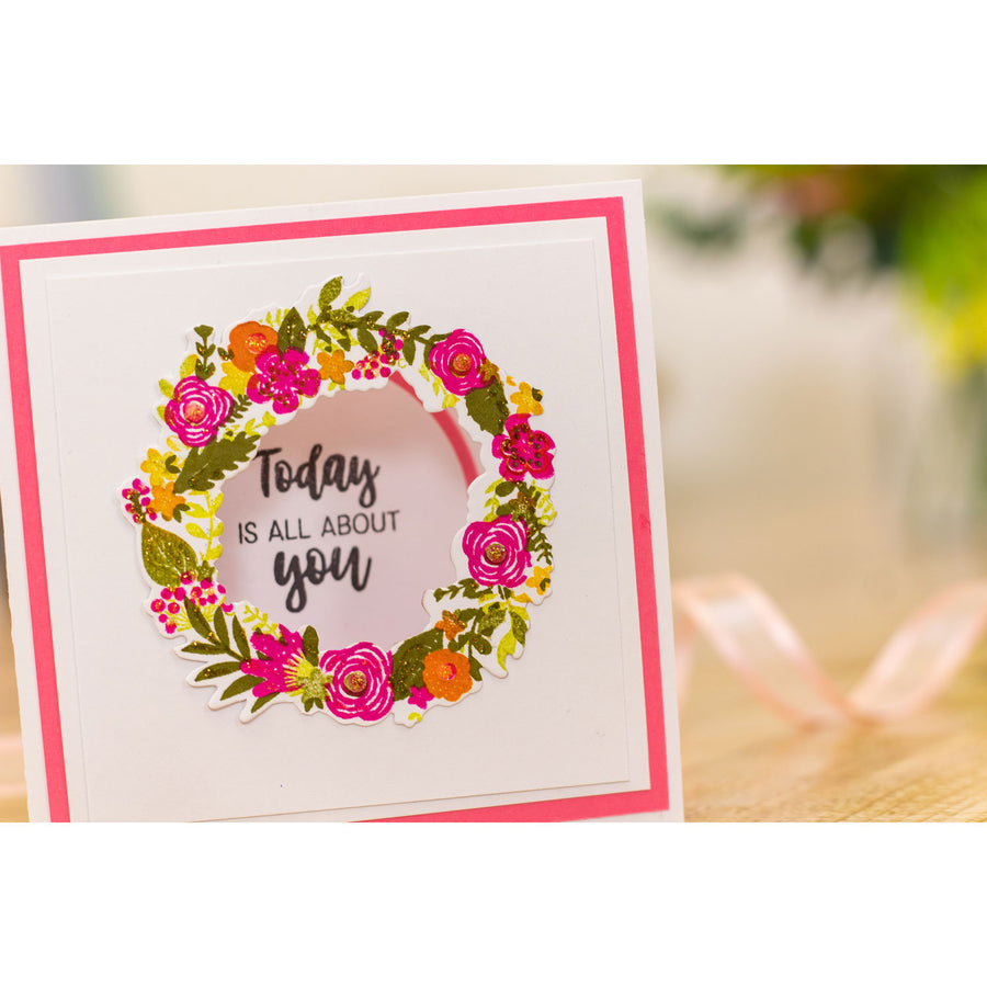 Crafters Companion Gemini - Photopolymer Stamp - Spring Wreath