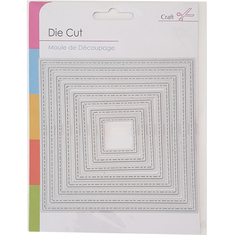 Die Cut Craft Die - Stitched Squares
