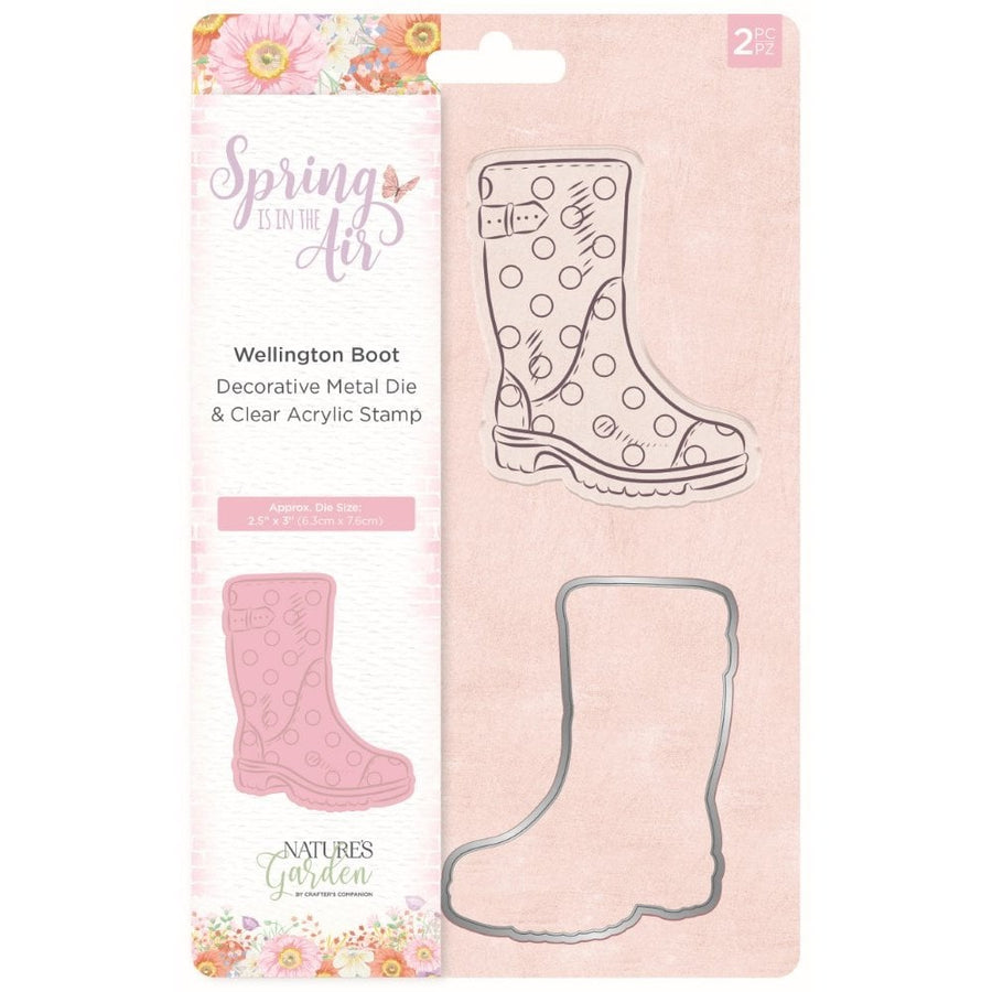 Nature's Garden - Spring Is In The Air - Stamp and Die - Wellington Boot