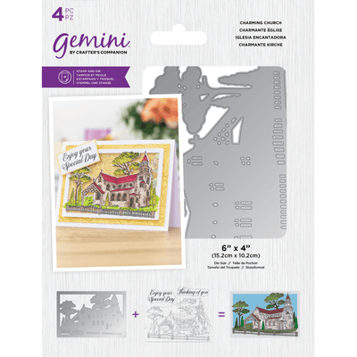 Gemini by Crafters Companion - Stamp & Die - Charming Church