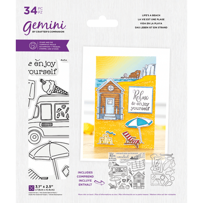 Gemini by Crafters Companion - Stamp & Die - Life's A Beach