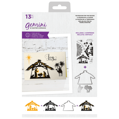 Gemini by Crafters Companion - Stamp & Die - The Reason for the Season