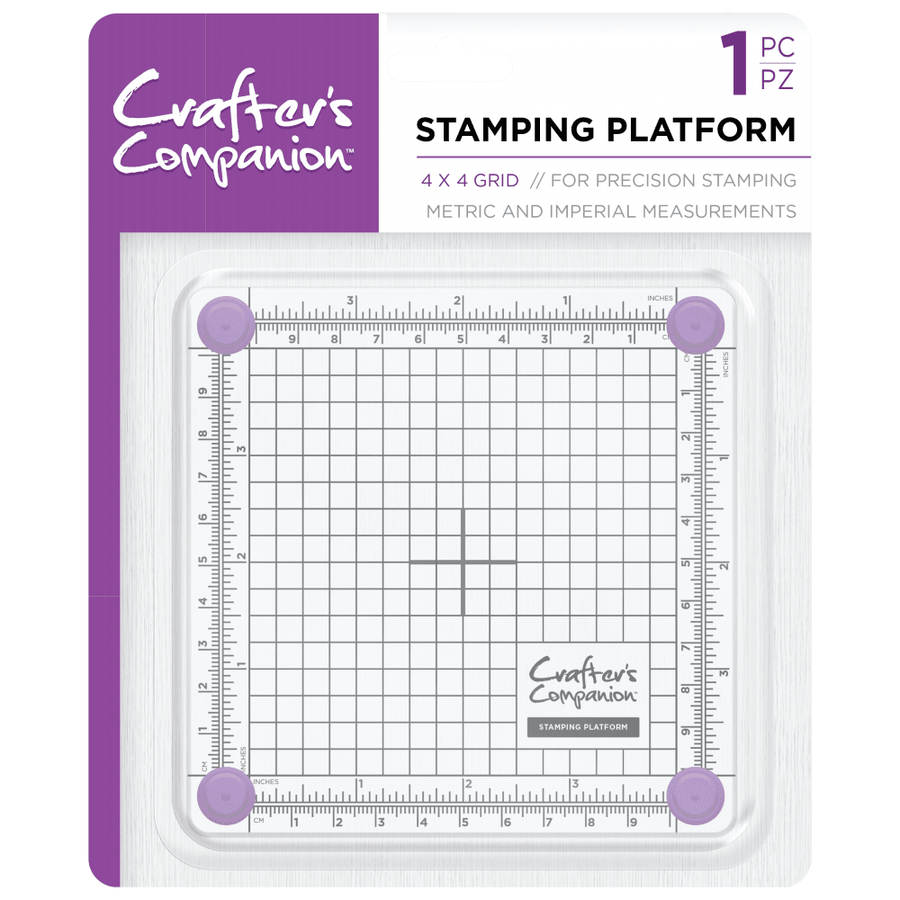 Crafters Companion - Stamping Platform - 4 x 4