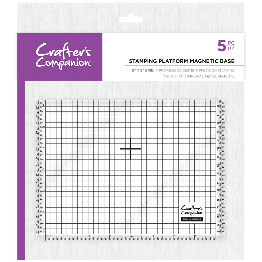 "Crafters Companion Stamping Platform Magnetic Base 8"" x 8"""