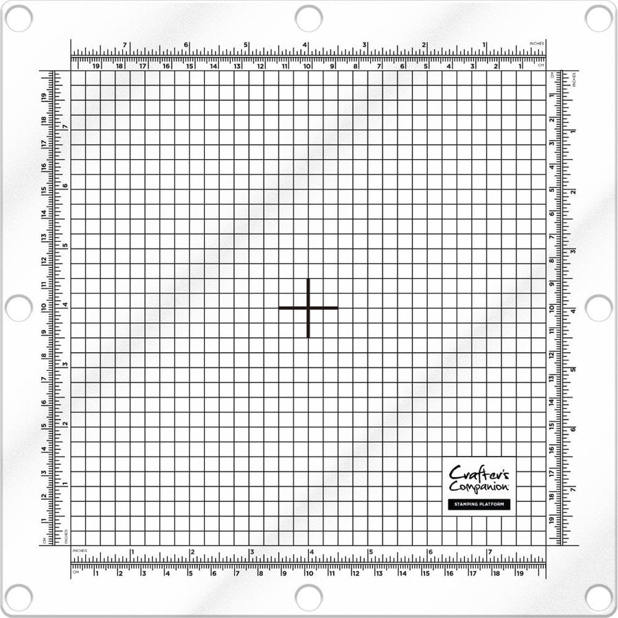 "Crafters Companion Stamping Platform & Magnetic Base 8"" x 8"""