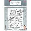 Phill Martin - Sentimentally Yours - Stately Christmas Sentiments A5 Stamp Set