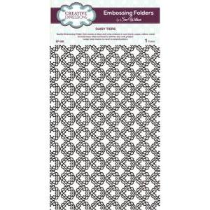 CREATIVE EXPRESSIONS A4 Embossing Folder DAISY TIERS EF-028 Sue Wilson