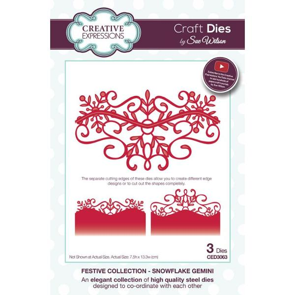 Sue Wilson Dies - Festive Collection - Snowflake Gemini - CED3063
