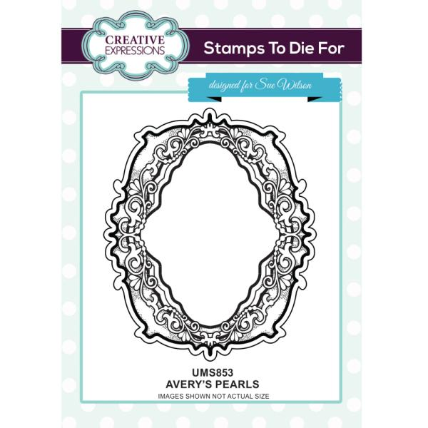 Sue Wilson Stamp - Averys Pearls - UMS853