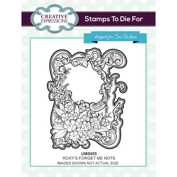 Sue Wilson Stamp - Roxys Forget-Me-Nots - UMS855