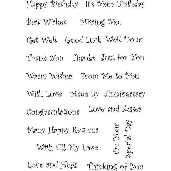 Sweet Dixie Clear Stamps: Everyday Words Happy Birthday