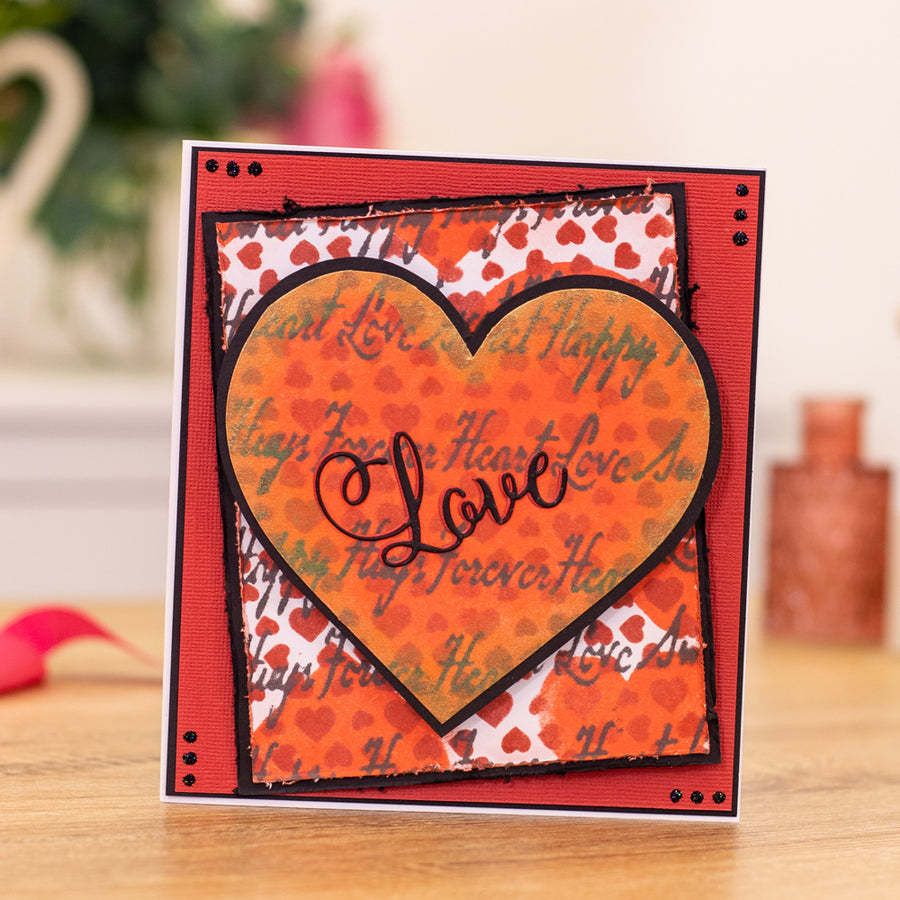 Crafters Companion - Layering Stencils - Sweet Love