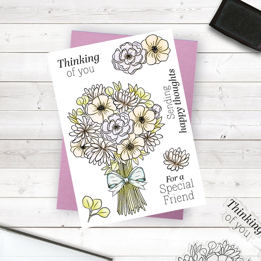 Crafters Companion Stamp - Sending Happy Thoughts
