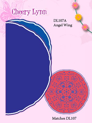 Cheery Lynn Designs Doily Dies - Waltzing Matilda Angel Wing (DL107A)