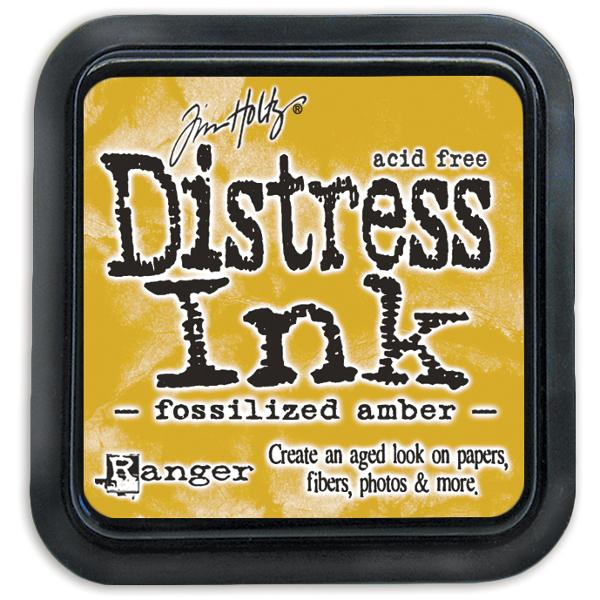 Tim Holtz Distress Ink Pads: Fossilised Amber