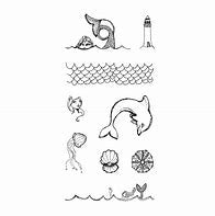 Spellbinders - Tin of Mermaids Wood Mount Stamps - JD-007