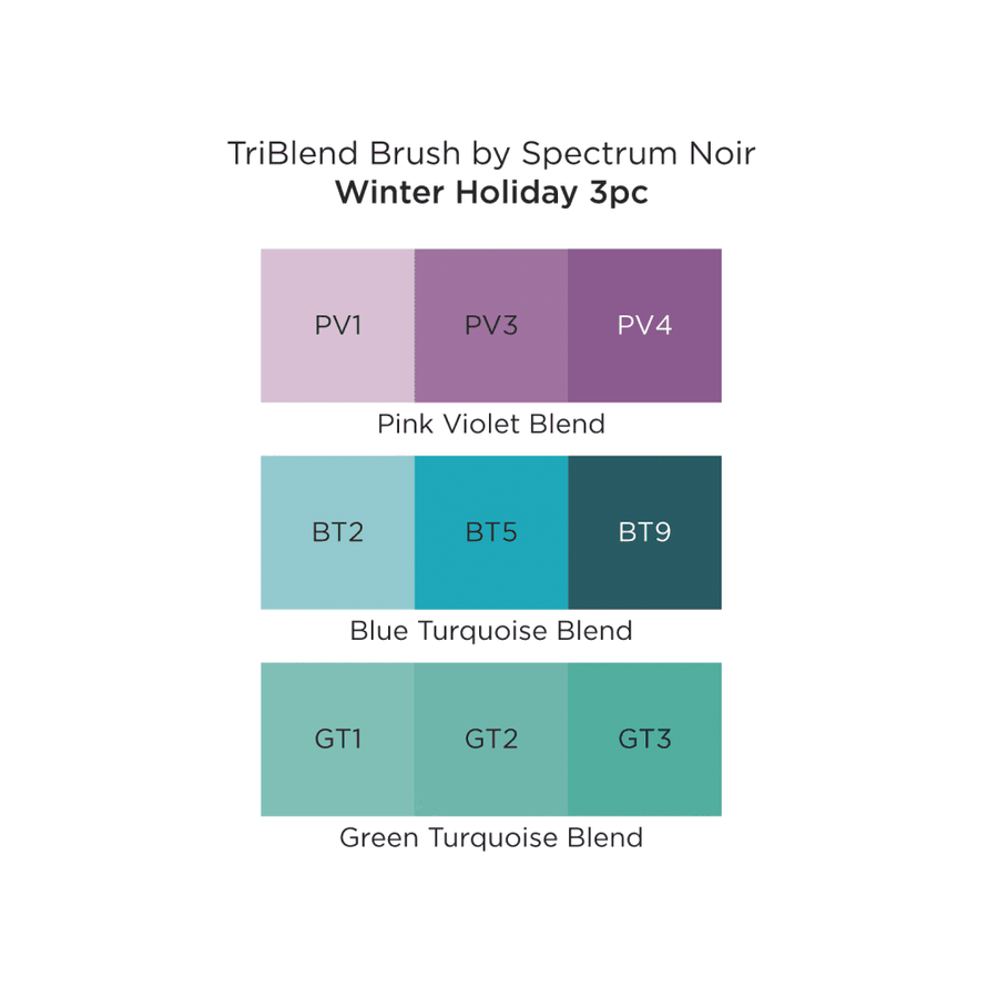 Spectrum Noir - TriBlend Brush 3 Pack - Winter Holiday